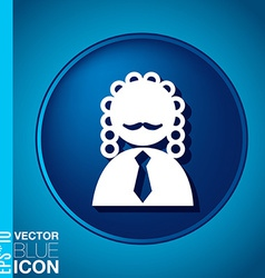 Icon avatar judge symbol of justice vector