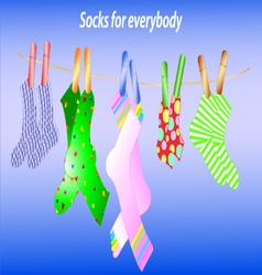 Texture of the socks vector