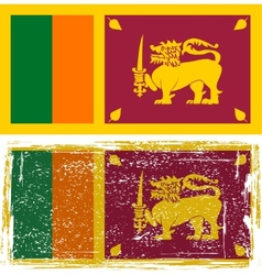 Sri lanka grunge flag  grunge effect can be vector