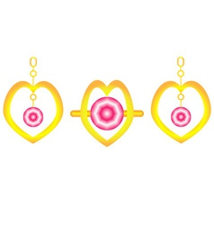 Ring and ear rings vector