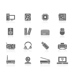 Black icons - computer vector