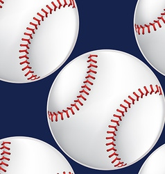 Baseball seamless pattern vector