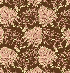 Vintage baroque seamless pattern vector