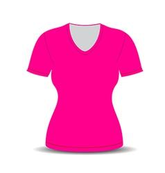 Blank t shirt template vector