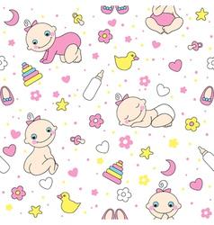 Baby girls vector