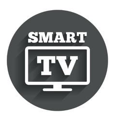 Widescreen smart tv sign icon television set vector