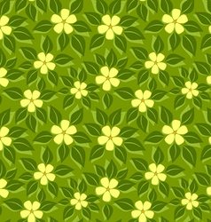 Tropical pattern green leafs vector