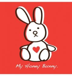Honey bunny vector