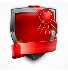 Shield with ribbon  award vector