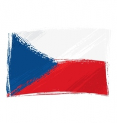 Grunge czech republic flag vector