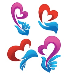 Love in my heart collection of symbols vector
