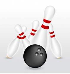 Bowling illustration vector