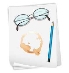 Paper and coffee stain vector