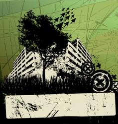 Grunge urban design vector