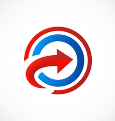 Target arrow right logo vector