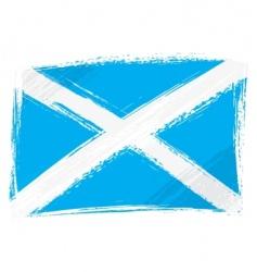 Grunge scotland flag vector