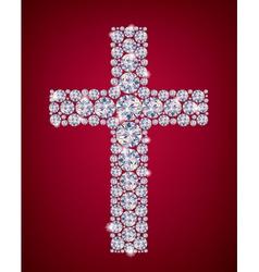 Cross of diamonds vector