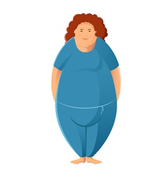 Plump woman vector