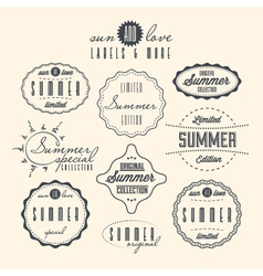 Vintage summer sale labels vector