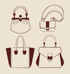 Woman bags vector