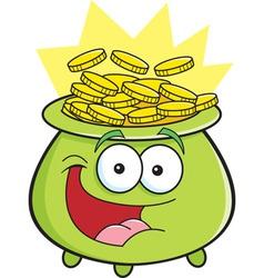 Cartoon pot of gold vector