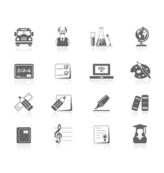 Black icons - education vector