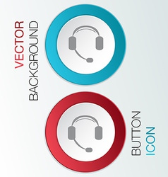 Customer support headphone vector