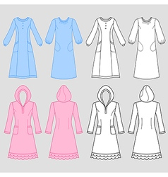 Nightdress 09 vector