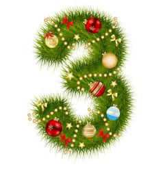 Christmas alphabet number vector