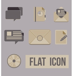 Set icons modes of message flat vector
