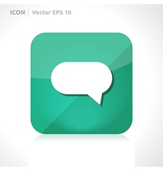 Bubble comment icon vector