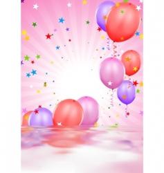 Party balloons vector