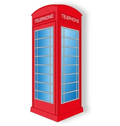 Red telephone cabin vector