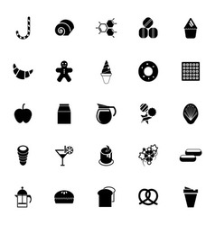 Sweet food icons on white background vector