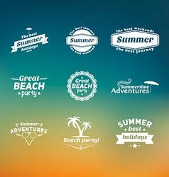 Set of summer retro design elements vintage vector