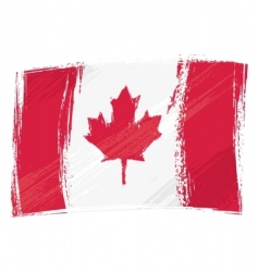 Grunge canada flag vector
