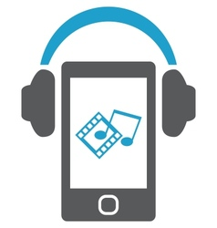 Smartphone with headphones vector