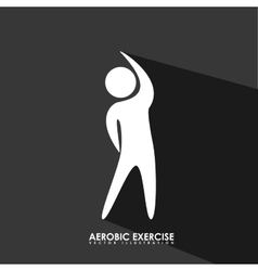 Aerobics exercise vector