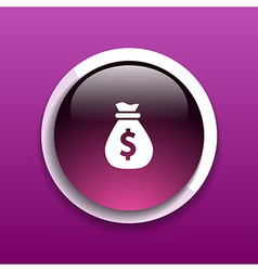 Money bags easy to edit layers icon funds buy vector