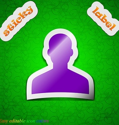 User person log in icon sign symbol chic colored vector
