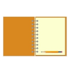 Blank notebook and pencil vector
