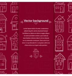 Houses background with pace for text vector