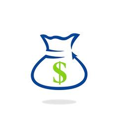 Dollar bag finance bank logo vector