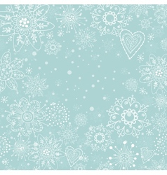 Christmas invitation card with white snowflake vector