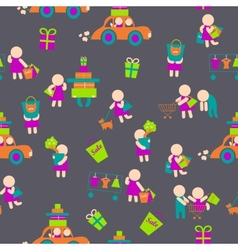 Seamless backgroundshopping people vector
