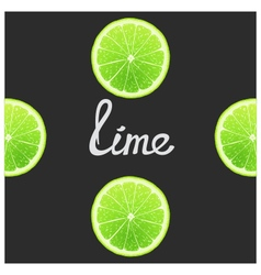 Funny of lime vector