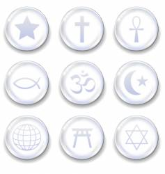 World religion symbols vector