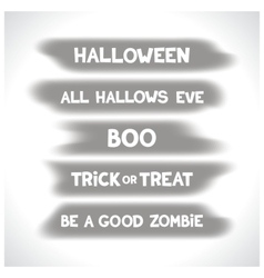Halloween labels on blurry spots vector