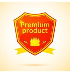 Retro premium product label vector
