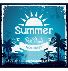 Summer beach hawaii background vector